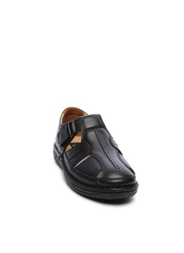 Kemal Tanca Kemal Tanca Erkek Derı Sandalet Ayakkabı Siyah